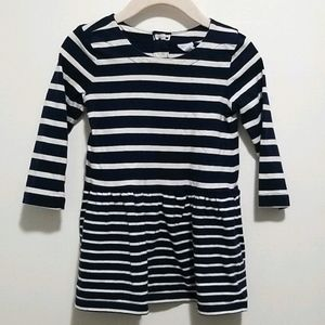 4/$20 Baby Gap Long Sleeve Striped Dress, Size 2